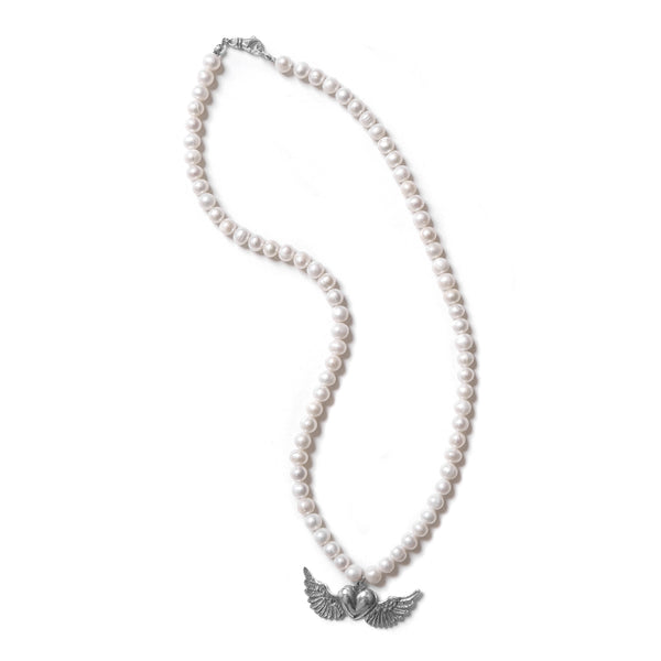 Winged Heart & Pearl Necklace (limited)