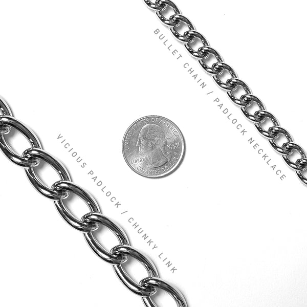 Chunky Link Bullet Chain Necklace (limited)