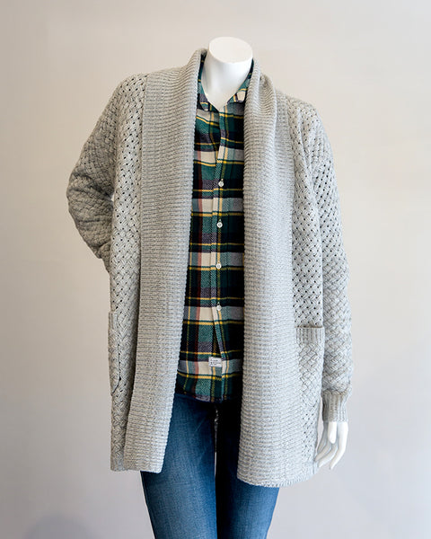 John and Jenn Aldridge Cardigan in Fossil