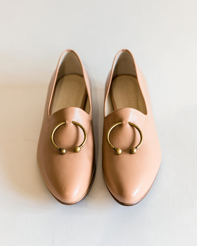 Freda Salvador Lane Flat Loafer in Nude