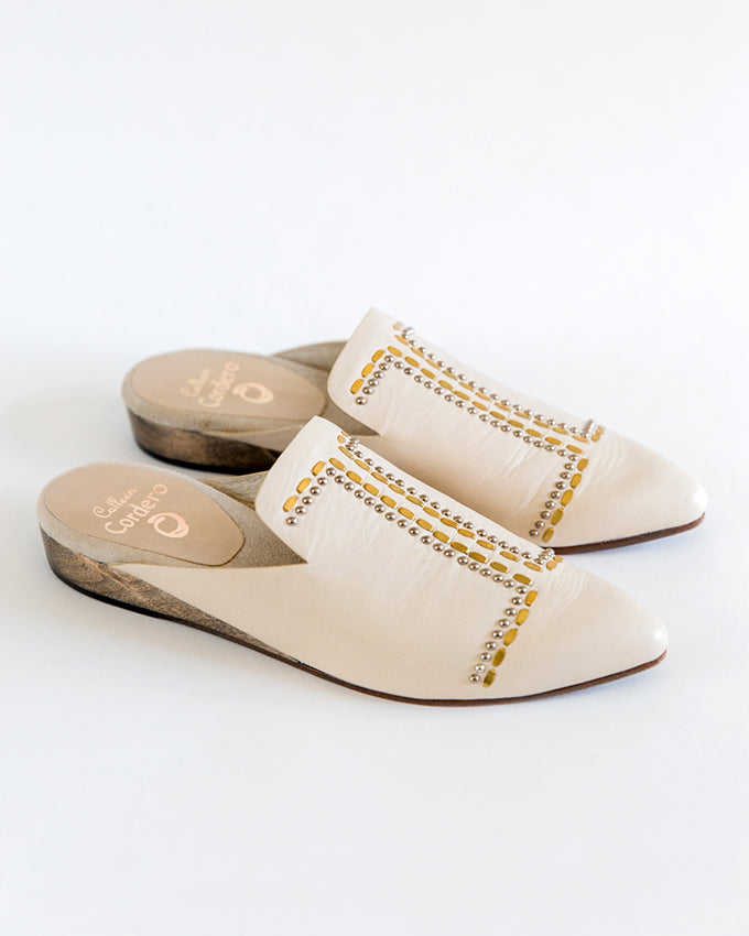 Calleen Cordero Sheira Mule in Beige New Look