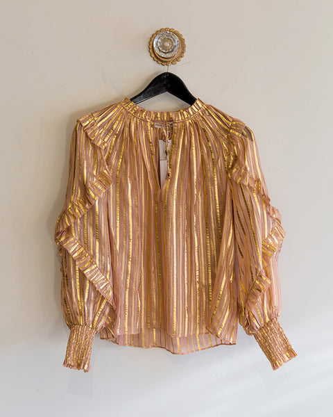 Ulla Johnson Lucinda Blouse in Rose