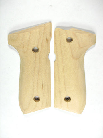 Unfinished Maple Beretta 92fs Grips