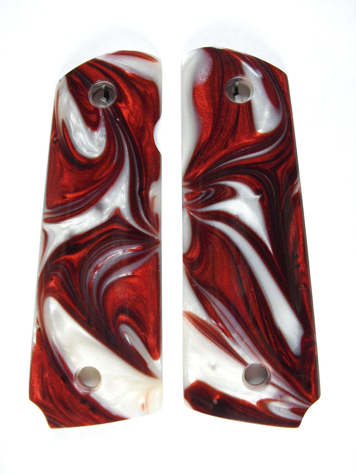 Red & White Pearl 1911 Grips (Full Size) – LS Grips
