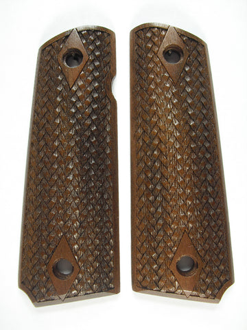 Braided Weave Walnut 1911 Grips (Full Size)
