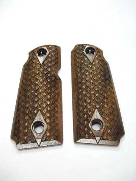 Braided Weave Walnut Kimber Micro 380 Grips