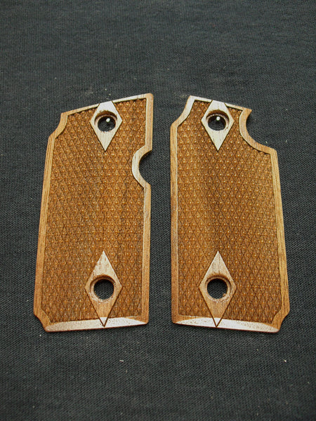 Double Diamond Checker Walnut Sig Sauer P238 Grips