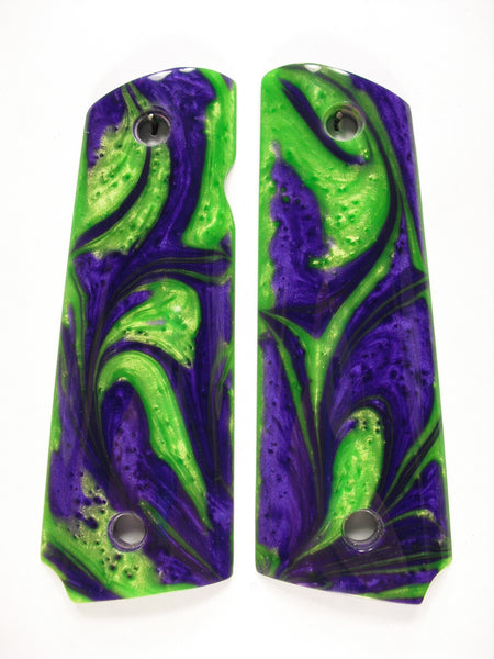 Green & Purple Pearl 1911 Grips (Compact)