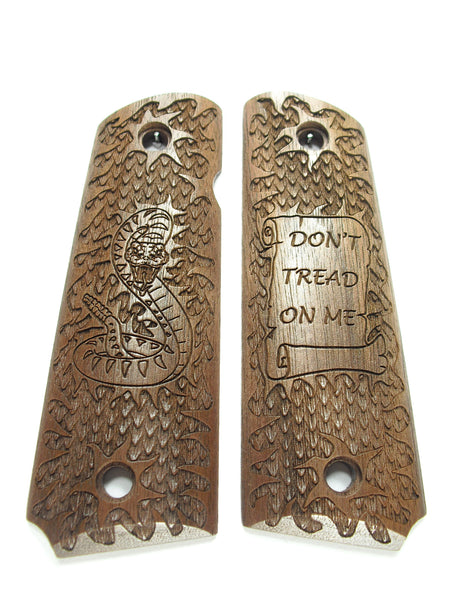 Walnut Don't Tread on me 1911 Grips (Full Size)