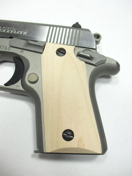 Unfinished Maple Colt Mustang Pocketlite Grips