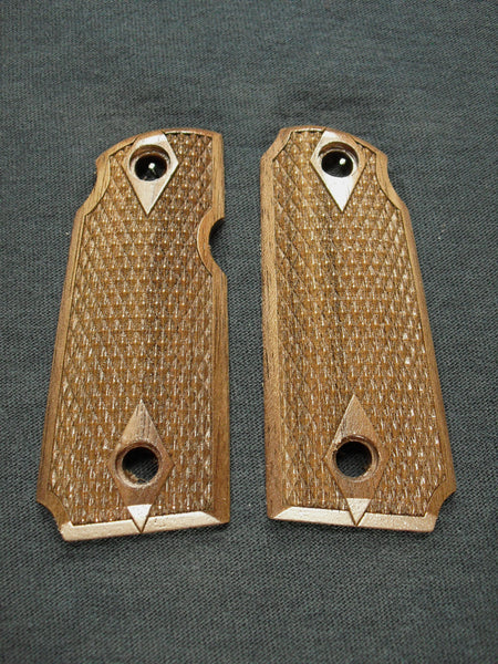 Double Diamond Checker Walnut Kimber Micro 380 Grips