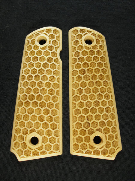 Honeycomb Maple 1911 Grips (Full Size)