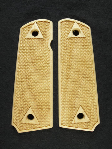 Triangle Checker Maple 1911 Grips (Full Size)