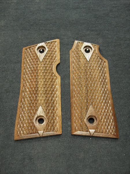 Double Diamond Checker Walnut Colt Mustang Pocketlite Grips
