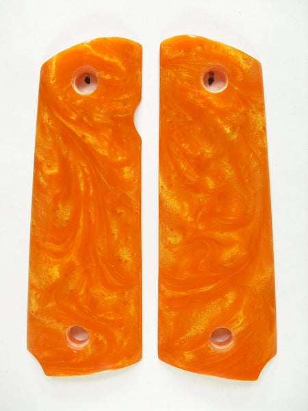 Orange Pearl 1911 Grips (Compact)