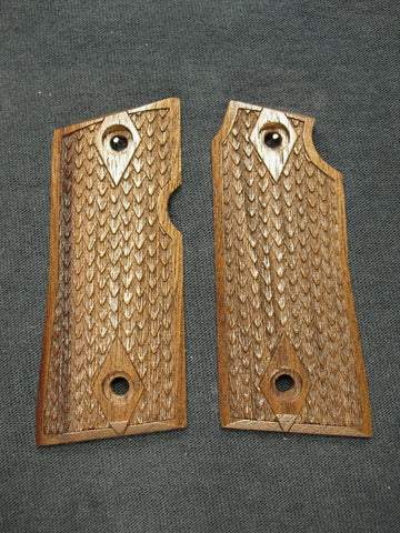 Dragon Scale Walnut Colt Mustang Pocketlite Grips