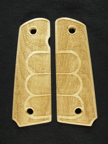 Grip Tape Texture #1 Maple 1911 Grips (Full Size)