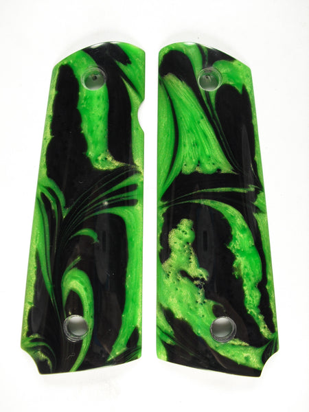 Green & Black Pearl 1911 Grips (Full Size)
