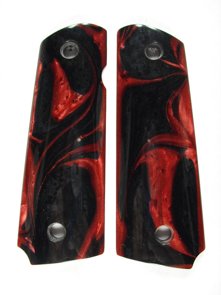 Red & Black Pearl 1911 Grips (Full Size)