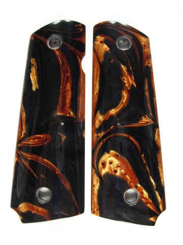 Copper & Black Pearl 1911 Grips (Full Size)