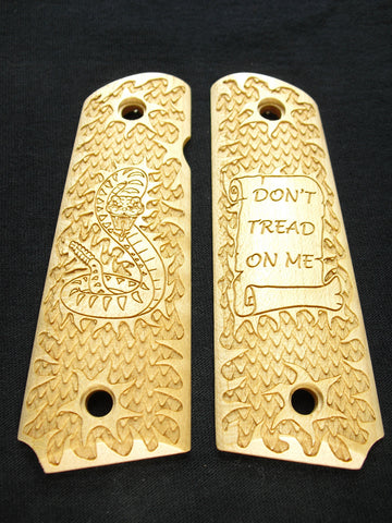 Don't Tread on me Maple 1911 Grips (Full Size)