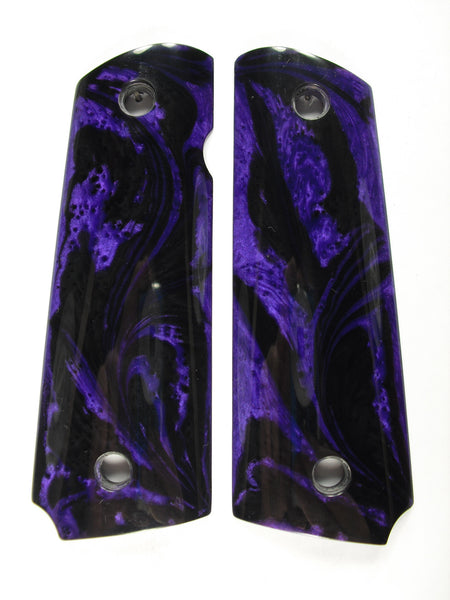 Purple & Black Pearl 1911 Grips (Compact)