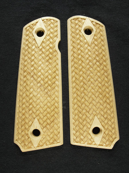 Braided Weave Maple 1911 Grips (Full Size)