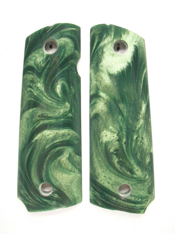 Dark Green Pearl 1911 Grips (Compact)