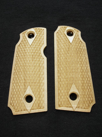 Double Diamond Checker Maple Kimber Micro 380 Grips