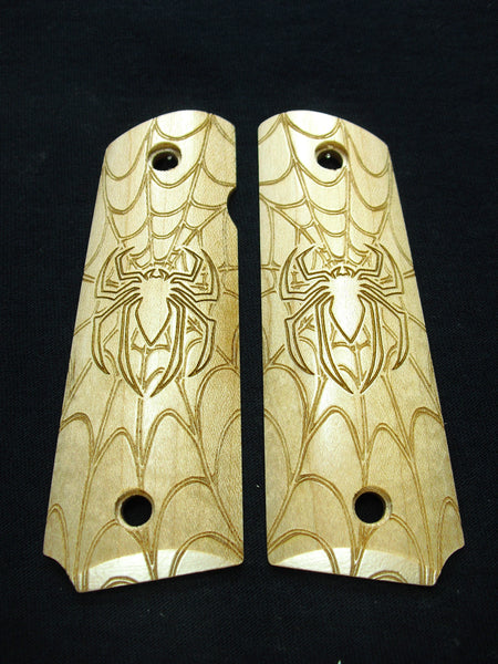 Spider & Web Maple 1911 Grips (Full Size)