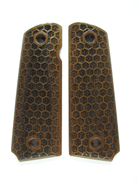 Honeycomb Walnut 1911 Grips (Full Size)