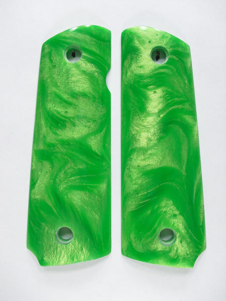 Green Pearl 1911 Grips (Compact)