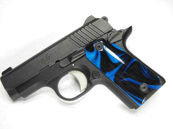 Black & Blue Pearl Kimber Micro 380 Grips