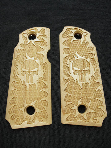 Punisher Maple Kimber Micro 380 Grips