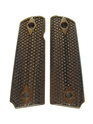 Dragon Scale Walnut 1911 Grips (Full Size)