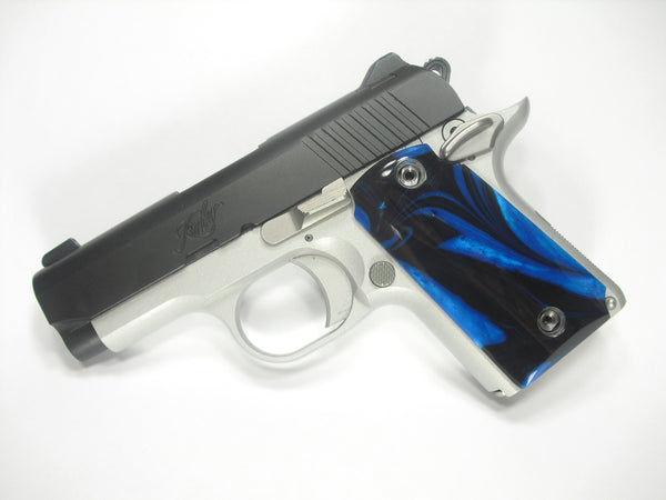 Black & Blue Pearl Kimber Micro 9 Grips