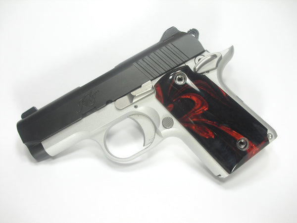 Black & Red Pearl Kimber Micro 9 Grips