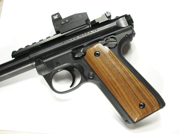 Walnut Ruger Mark IV 22/45 Grips