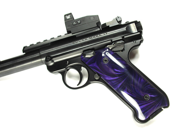Purple Pearl Ruger Mark IV Grips