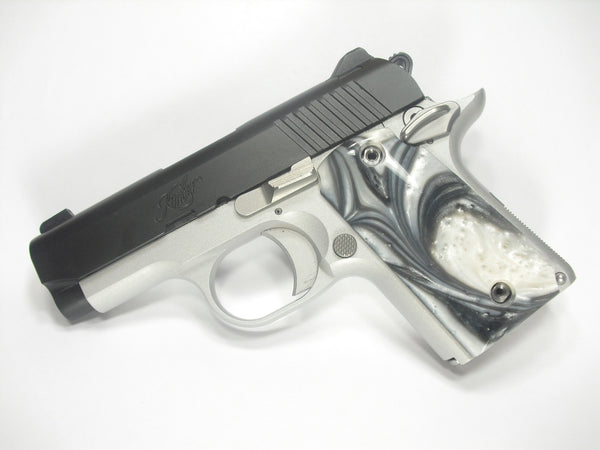 Silver & White Pearl Kimber Micro 9 Grips