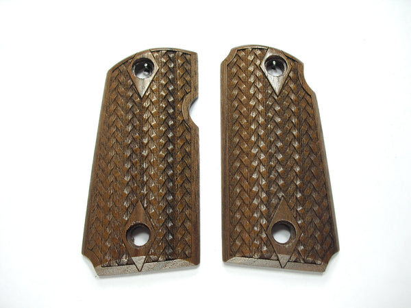 Braided Weave Walnut Kimber Micro 9 Grips