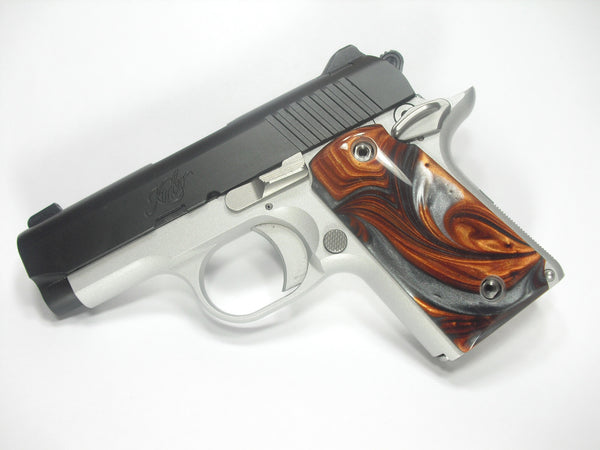 Copper & Silver Pearl Kimber Micro 9 Grips