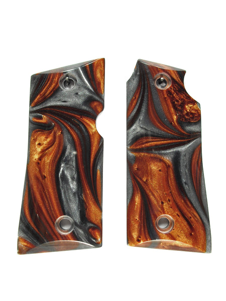 Copper & Silver Pearl Colt Mustang Pocketlite Grips