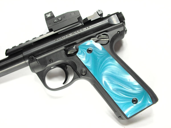 Tiffany Blue Pearl Ruger Mark IV 22/45 Grips