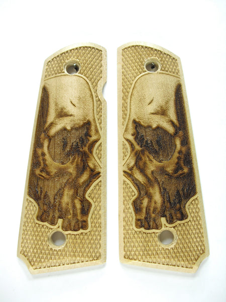 Skull Maple 1911 Grips (Full Size)
