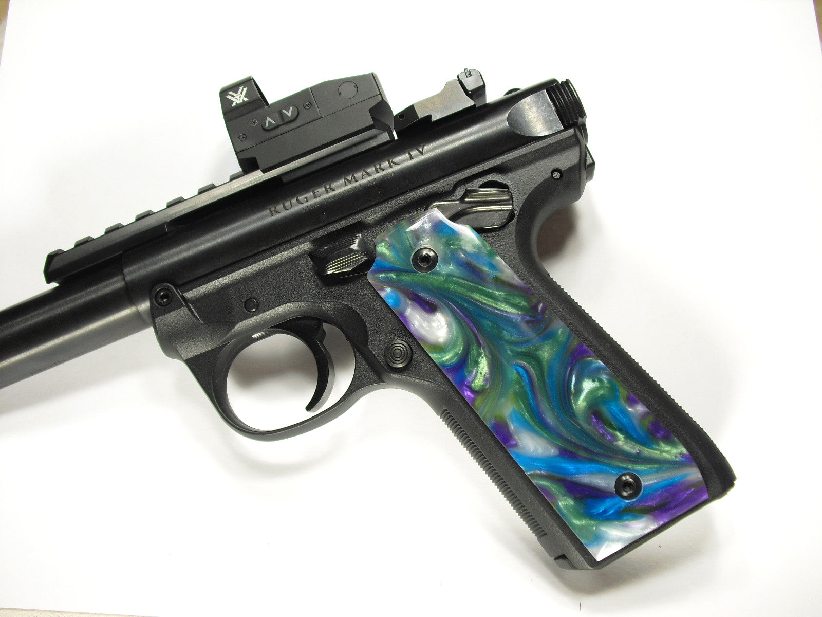 Abalone Pearl Ruger Mark IV 22/45 Grips
