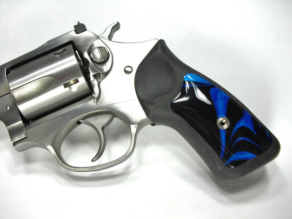 Black & Blue Pearl Ruger Sp101 Grip Inserts