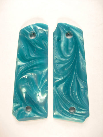 Tiffany Blue Pearl Ruger Mark III 22/45 Grips