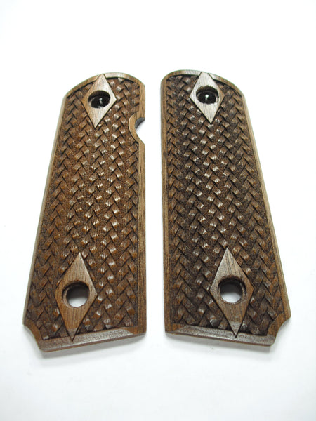 Braided Weave Walnut 1911 Grips (Compact)