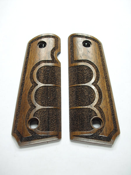 Grip Tape Texture Walnut 1911 Grips (Compact)